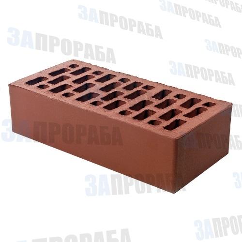 Кирпич пустотелый лицевой BRAER М150 1,0НФ Бордо гладкий