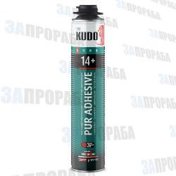 """Клей-пена полиуретановый KUDO """"PUR ADHESIVE 14+"""", профессиональный, 1000 мл"""