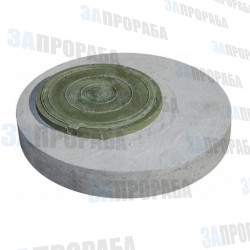 Плита перекрытия колодца верхняя КЦП-10 с полимерпесчаным люком