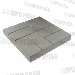 Плитка тротуарная вибролитьевая 8 кирпичей 400*400*50 мм