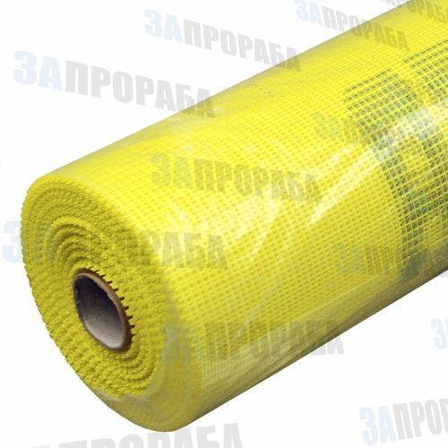 Сетка фасадная 1*30 м жёлтая (45 гр/м², ячейка 5*5 мм)