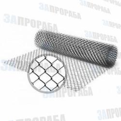 Сетка-рабица оцинкованная 1,2 м*10 м (ячейка 50*50 мм, толщина 1,6 мм)